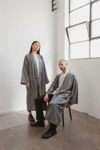 kodama apparel - edo long coat denim2