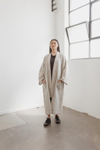 kodama apparel - edo long coat natural3