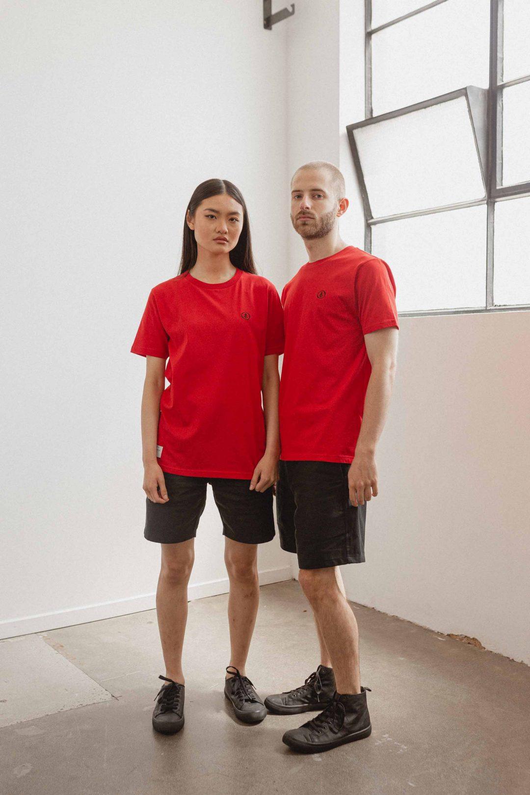 kodama apparel - zen t shirt red1
