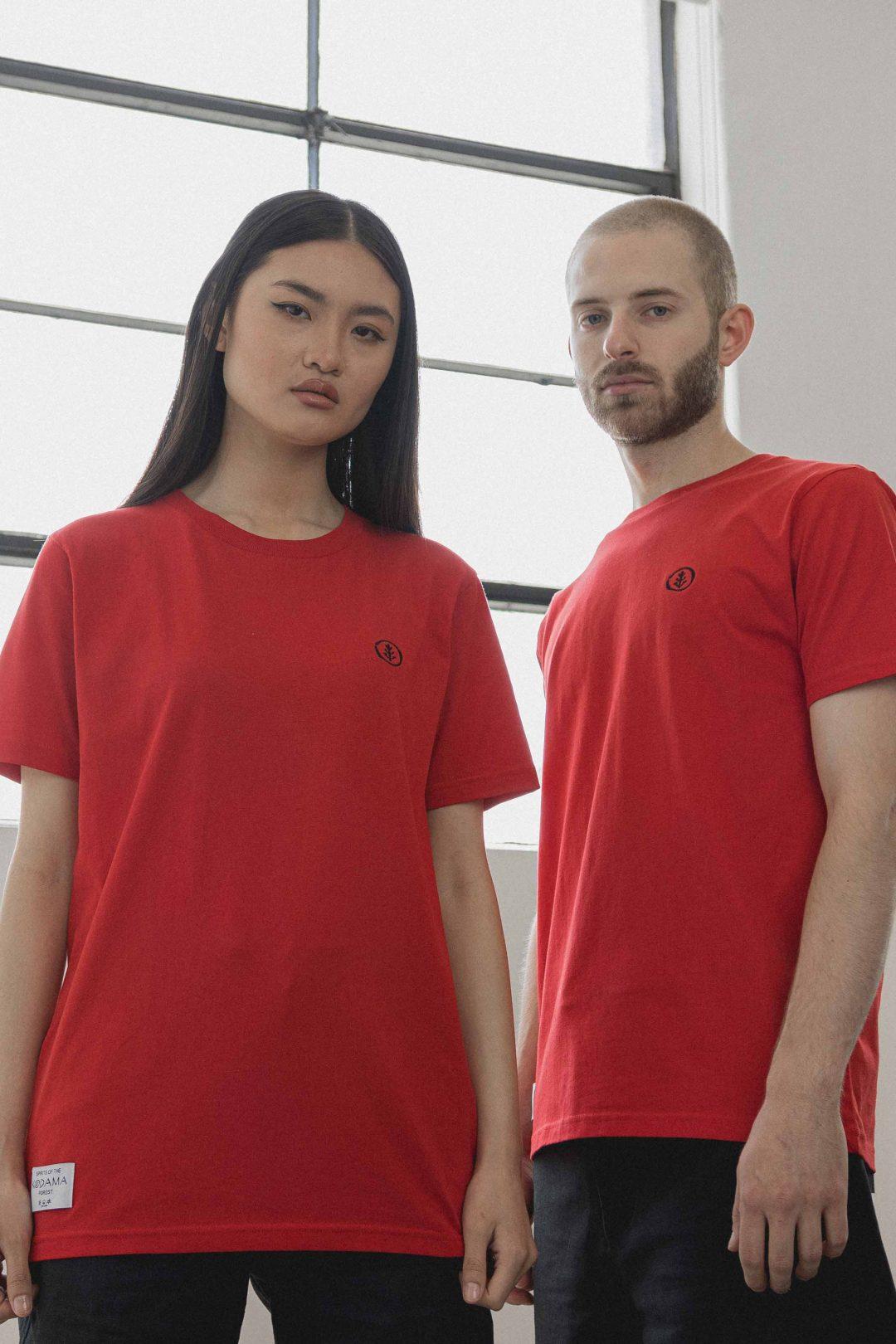 kodama apparel - zen t shirt red2