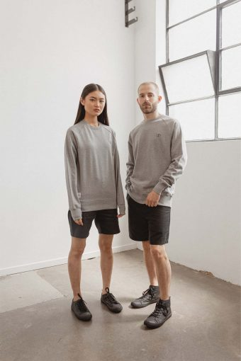 kodama apparel - zen crew sweater grey marle4