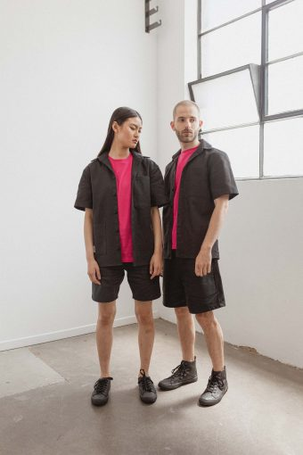 kodama apparel - hankai short sleeve shirt black1