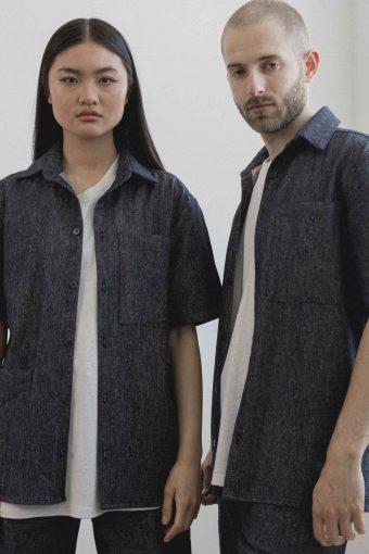 kodama apparel - hankai short sleeve shirt denim11