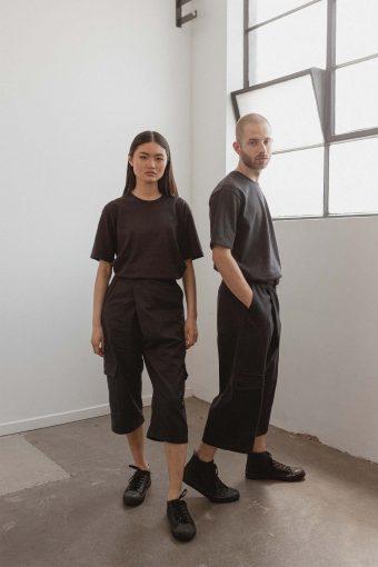 kodama apparel - hankai wrap pants black3