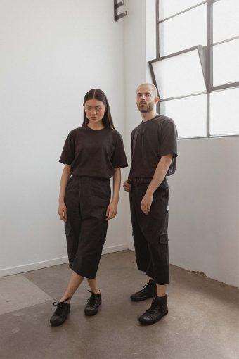 kodama apparel - hankai wrap pants black4