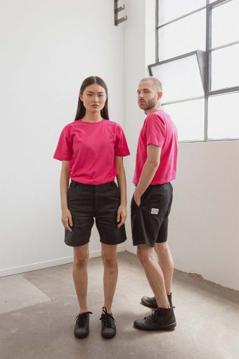 kodama apparel - zen cargo shorts black1