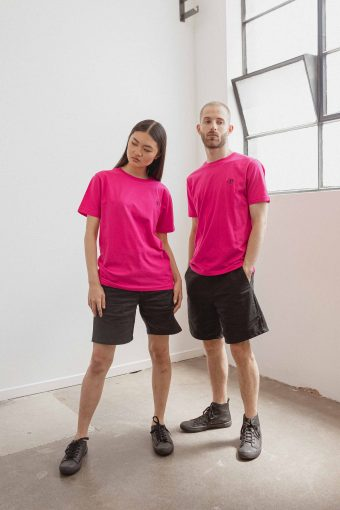 kodama apparel - zen t shirt fucshia1