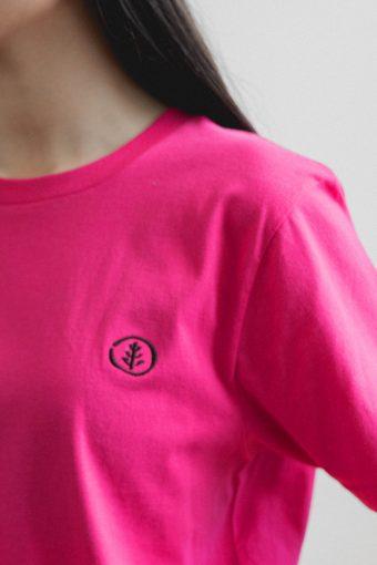 kodama apparel - zen t shirt fucshia2