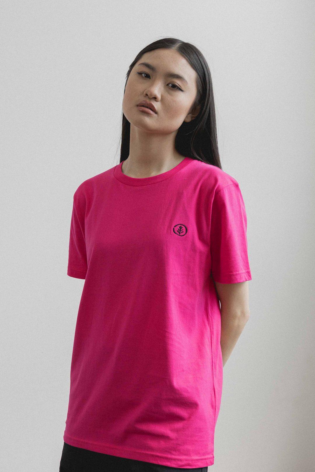 kodama apparel - zen t shirt fucshia3